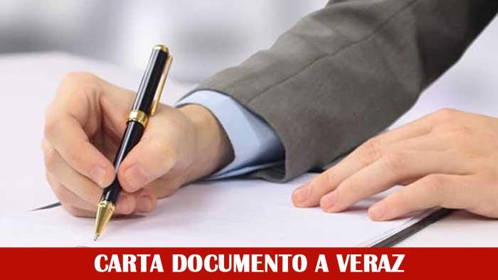 carta documento a veraz
