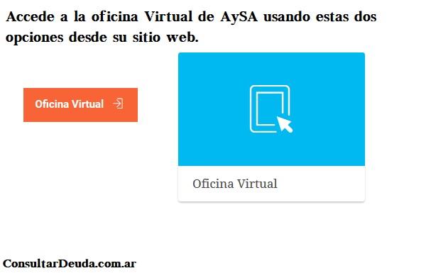 aysa oficina virtual
