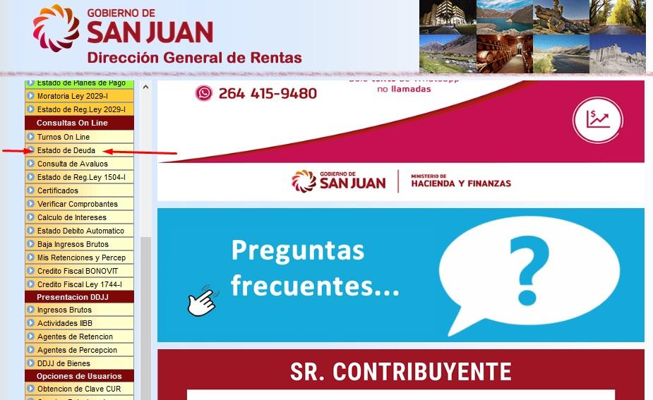 Consultar deuda de patente San Juan